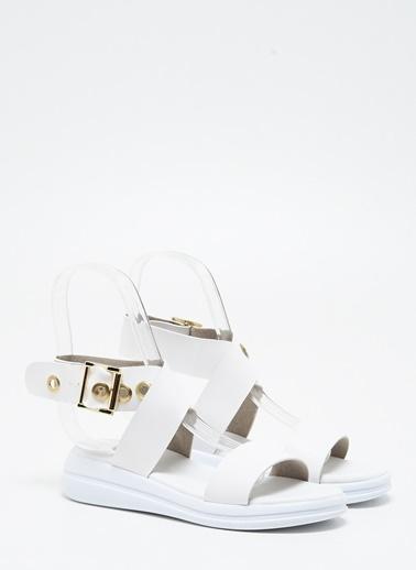 F By Fabrika Kadın Beyaz Sandalet CARLA Beyaz